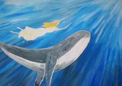 """Seelenbild """"Die Walfrau"""" Acryl auf Leinwand 80x60cm"""